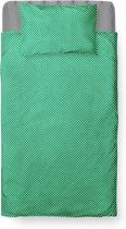 Roomture - Dekbedovertrek Ledikant - Katoen - 100 x 135 - Groen - Baby Dots Green
