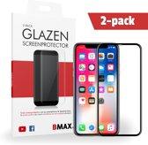 2-pack BMAX Apple iPhone X / Xs Full Cover Glazen Screenprotector   Dekt het volledige scherm!   Beschermglas   Tempered Glass