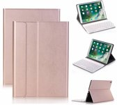 Rose Goud Magnetically Detachable / Wireless Bluetooth Keyboard hoes met toetsenbord voor Apple iPad (2018) / Air 1 / 2 / iPad Pro 9.7 inch / iPad 2017