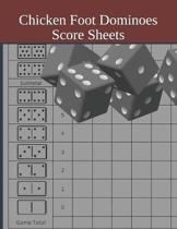 Chicken Foot Dominoes Score Sheets