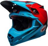 Bell Crosshelm Moto9 Flex Gloss/Matte Cyan/Red Hound-M