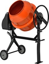 Betonmixer - Betonmolen - Cementmolen -140L- Oranje - Zwart