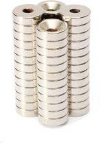 Super sterke ring magneten N50  - Rond - 10 x 3 mm met 3 mm gat - 50 Stuks