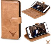Gazzi Lederen iPhone 7/8 Hoesje - Book Case - Retro Cognac