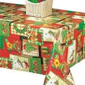PVC Tafellaken - Tafelkleed - Tafelzeil - Kerstmis - Feestdagen - Opgerold op koker - Geen plooien - Duurzaam - 140 cm x 250 cm - X-Mas