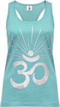 "Yoga-Racerback-Top ""OM sunray"" - mint silver L Loungewear shirt YOGISTAR"