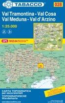 Tabacco Wandern 1 : 25 000 Val Tramontina. Val Cosa. Val d'Arzino 1:25.000