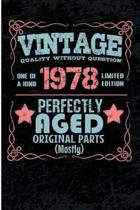 Vintage Quality Without Question One of a Kind 1978 Limited Edition Perfectly Aged Original Parts Mostly