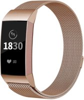 YONO Milanees bandje - Fitbit Charge 3 - Rose Gold - Small