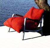 loungestoel buiten, loungestoel tuin, steigerbuizen lounge stoel tuin