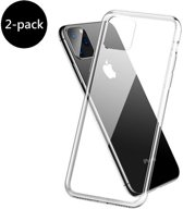 iPhone 11 Pro Max Siliconen Hoesje Back Cover Shock Hoes Case - 2 PACK