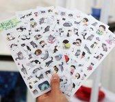 Stickers Kat Kawaii 6 velletjes