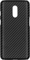 Carbon Hardcase Backcover OnePlus 7 hoesje - Zwart