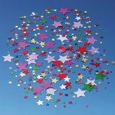 Confetti sterretjes gekleurd