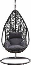 SenS-Line - Mona Relax Hangstoel Wicker Zwart