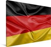 Close-up van de vlag van Duitsland Canvas 90x60 cm - Foto print op Canvas schilderij (Wanddecoratie woonkamer / slaapkamer)