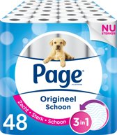 Page Origineel Schoon Toiletpapier - 6x 8 rollen - 2 Laags – Voordeelverpakking