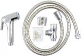 Bidet Sprayer Set - WC/Bad/Douche/Toilet Handdouche Douchekop Sproeier Met Slang & Wandhouder - Toiletdouche