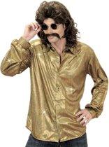 Goudkleurige disco blouse voor mannen - Verkleedkleding - Maat XL