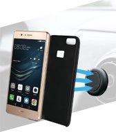 Azuri magnetische backcover met magnetic autohouder- zwart - voor Huawei P9 Lite