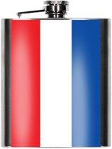 Heupfles Nederlandse vlag 200 ml - Nederland heupflacon