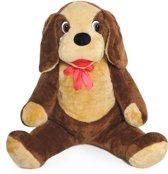 Grote knuffel - hond - bruin - 110 cm