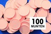 Kleinverpakking: Blanco consumptiemunten / drankmunten - zalm - 100 stuks