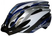 Cycle Tech Fietshelm Blauw/grijs/wit 58/61 Cm