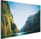 Sumidero Canyon Mexico Aluminium 60x40 cm - Foto print op Aluminium (metaal wanddecoratie)