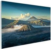 Zonsopkomst Bromo vulkaan Glas 60x40 cm - Foto print op Glas (Plexiglas wanddecoratie)