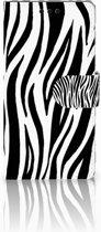 Sony Xperia M4 Aqua Boekhoesje Design Zebra