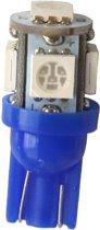 T10 - ICE BLAUW - 5 LED - 12V - 5050 SMD