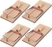 4x Rattenvallen/rattenklemmen 17 cm - Ongediertebestrijding/ongediertewering tegen ratten