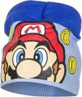 Super Mario muts licht blauw voor jongens 52 cm (4-6 jr)
