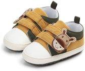 Leuke gele Sneakers met klittenband