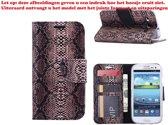 Xssive Hoesje voor Samsung Galaxy Trend Lite S7390 - Book Case Slangen Print Donker Bruin