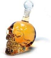 MikaMax Skull Bottle 1L Glas - Incl. flessenstop
