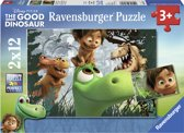 Ravensburger puzzels The Good Dinosaur Spot en de dinosaurussen 2 x 12 stukjes