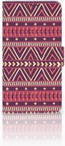 Microsoft Lumia 640 XL Uniek Boekhoesje Aztec Purple