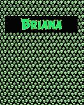 120 Page Handwriting Practice Book with Green Alien Cover Briana