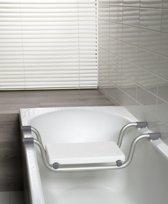 Allibert USIS  badzitting voor bad - RVS -  lichtgrijs -  74 cm breed