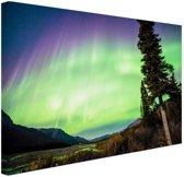 Noorderlicht foto afdruk Canvas 120x80 cm - Foto print op Canvas schilderij (Wanddecoratie)