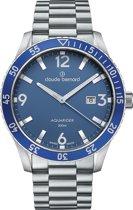 Claude bernard aquarider 53008 3MBU BUIN Mannen Quartz horloge