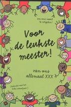 Interstat Voor de leukste Meester - Kinderen - 14 x 18 x 2cm