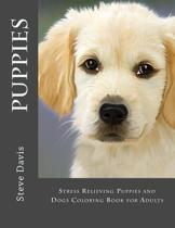 Puppies Adult Coloring Book