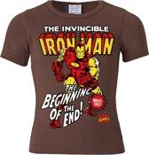 Logoshirt T-Shirt mit Iron Man-Frontdruck