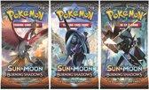 Pokemon 3 Booster Pakjes Sun & Moon Burning Shadows