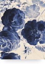 Houten paneel, Royal Blue Flowers, KEK Amsterdam, large
