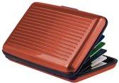 Premium Lichtgewicht Alu Wallet Portemonnee Pashouder Bruin – 8x10cm | Portemonnees | Anti-Skimming | Creditcardhouder | Geldknip | Pasjeshouder