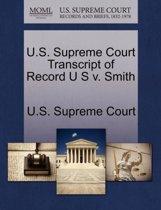 U.S. Supreme Court Transcript of Record U S V. Smith